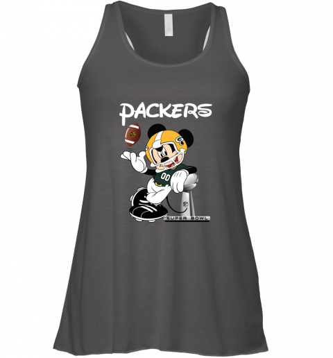 v02q mickey packers taking the super bowl trophy football flowy tank 32 front dark grey heather