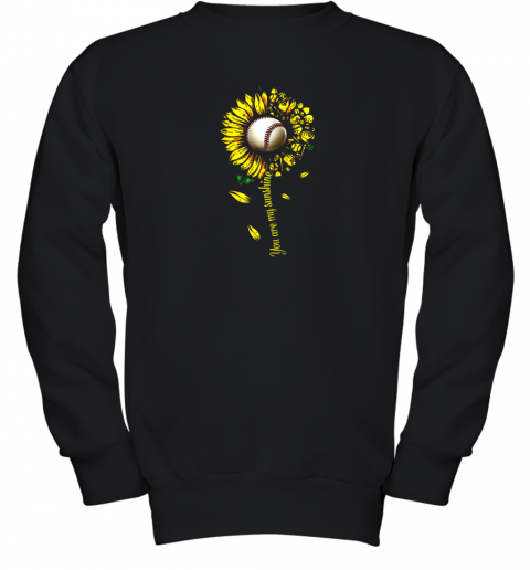 You Are My Sunshine Sunflower Baseball Youth Sweatshirt