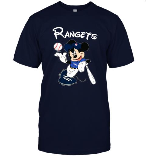 Baseball Mickey Team Texas Rangers Unisex Jersey Tee