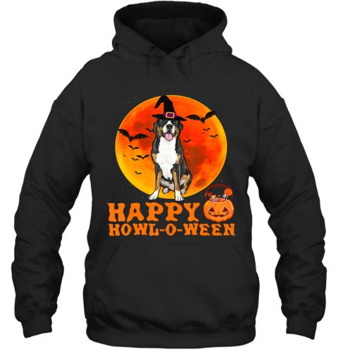 Funny Greater Swiss Mountain Dog Halloween Happy Howl-o-ween Hoodie