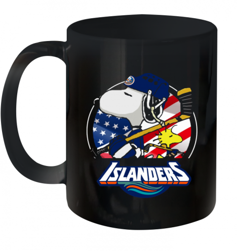 New York Islanders Snoopy And Woodstock NHL Ceramic Mug 11oz
