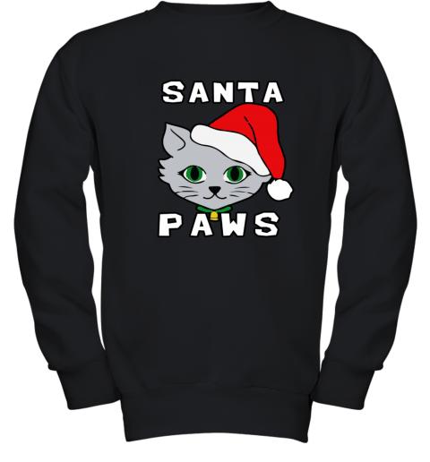 SANTA PAWS CAT KITTEN UGLY CHRISTMAS Youth Sweatshirt