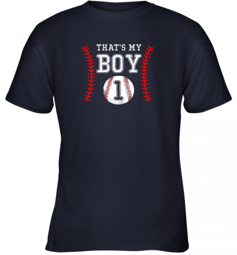 ljtq that39 s my boy baseball 1 year old dad mom youth t shirt 26 front navy