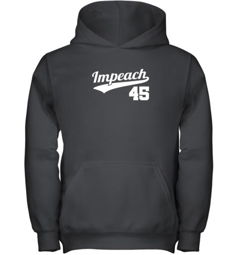 Impeach Donald Trump 45 Baseball Logo Youth Hoodie