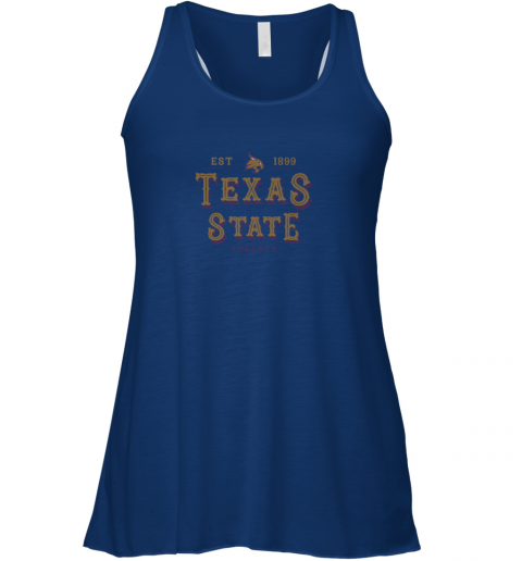 omwv texas state bobcats womens college ncaa flowy tank 32 front true royal