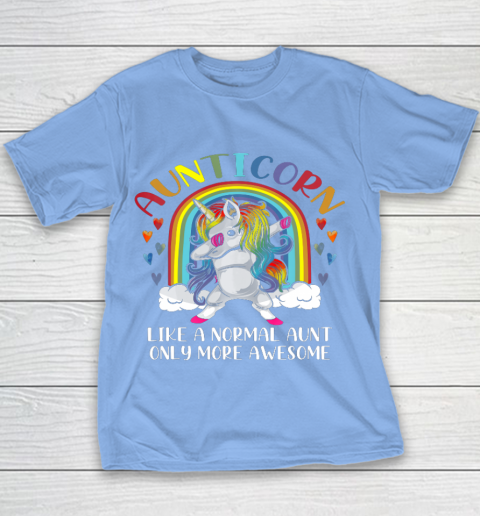 Aunticorn Like An Aunt Only Awesome Dabbing Unicorn Youth T-Shirt 8