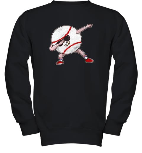Kids Funny Dabbing Baseball Player Youth Shirt Cool Gift Boy Youth Sweatshirt