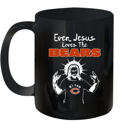 Jesus Loves The Chicago Bears   NFL Ceramic Mug 11oz