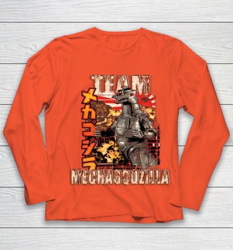 Team Mechagodzilla Japan Vintage Style Youth Long Sleeve 3