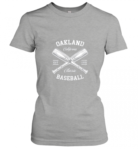 axv4 oakland baseball classic vintage california retro fans gift ladies t shirt 20 front ash
