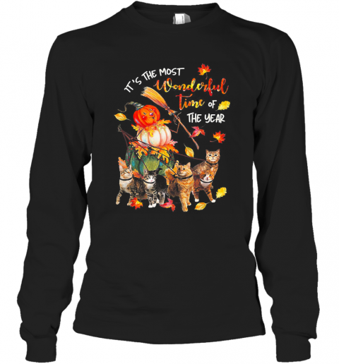 It's Just A Bunch Of Hocus Pocus Witch Cat Halloween Long Sleeve T-Shirt