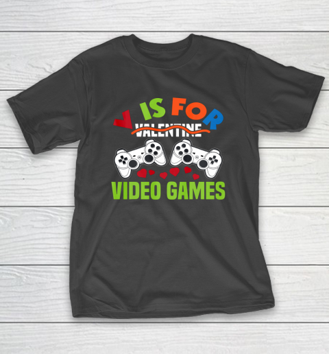 Funny Video Games Lover Valentine Day T-Shirt