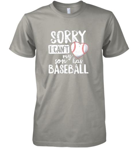 hblf sorry i cant my son has baseball shirt funny mom dad premium guys tee 5 front light grey