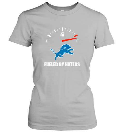 ykua fueled by haters maximum fuel detroit lions ladies t shirt 20 front sport grey