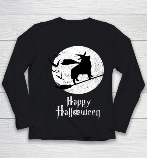Funny Halloween Costume Witch SCHIPPERKE Dog Lover Gift Youth Long Sleeve