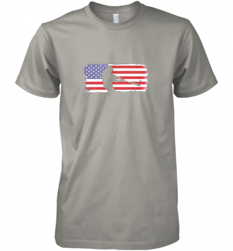 tk9z usa american flag baseball player perfect gift premium guys tee 5 front light grey
