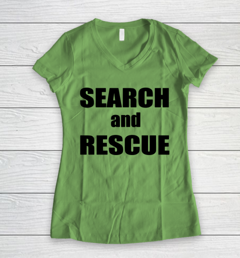 Trump Search And Rescue Women's V-Neck T-Shirt 5