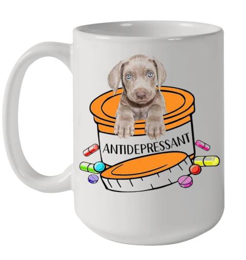 Weimaraner Antidepressant Ceramic Mug 15oz
