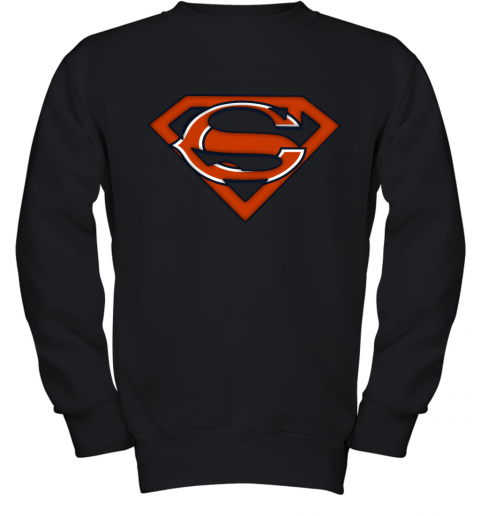 We Are Undefeatable The Chicago Bears x Superman NFL Youth Sweatshirt