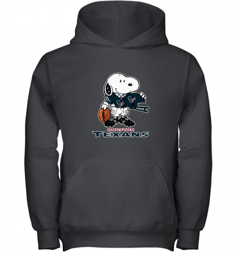 Snoopy  Strong And Proud Houston Texans Player NFL Youth Hoodie