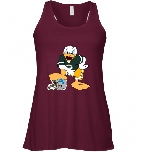 9qmn you cannot win against the donald green bay packers nfl flowy tank 32 front maroon