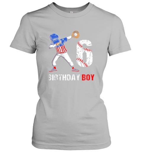 mhnr kids 6 years old 6th birthday baseball dabbing shirt gift party ladies t shirt 20 front sport grey