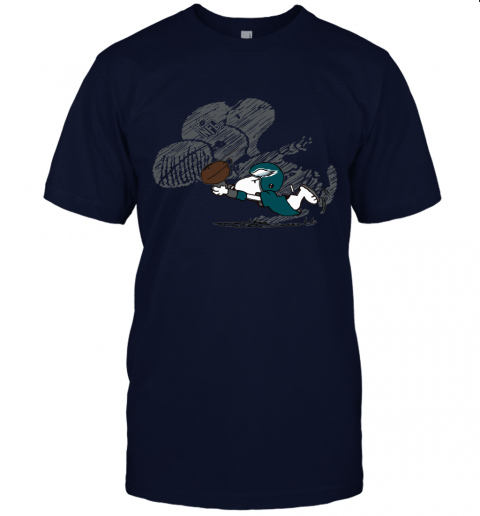 Philadelphia Eagles Snoopy Plays The Football Game Unisex Jersey Tee