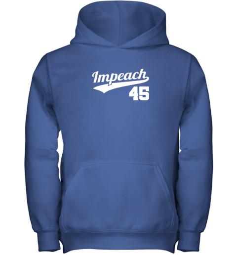 a9ma impeach donald trump 45 baseball logo youth hoodie 43 front royal