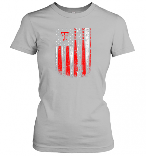 lkis texas tech red raiders baseball flag team name ladies t shirt 20 front sport grey
