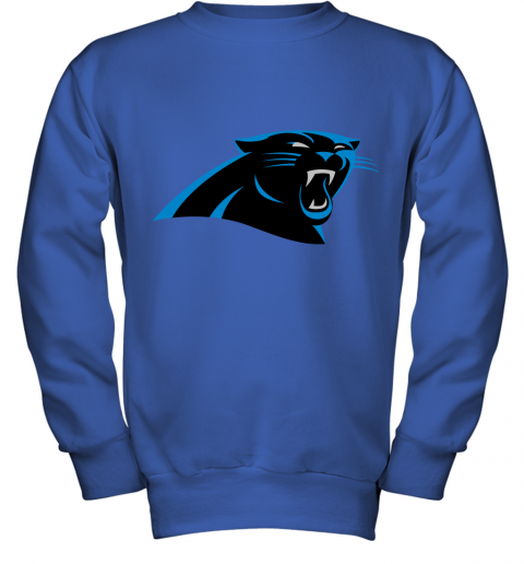 zunv panthers nfl pro line by fanatics branded gray victory youth sweatshirt 47 front royal