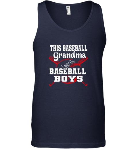 asjr this baseball grandma loves her baseball boys unisex tank 17 front navy