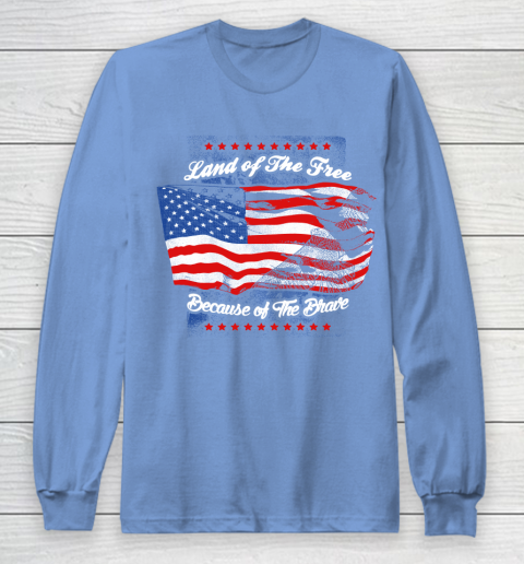 Veteran Shirt Land Of The Free Long Sleeve T-Shirt 8