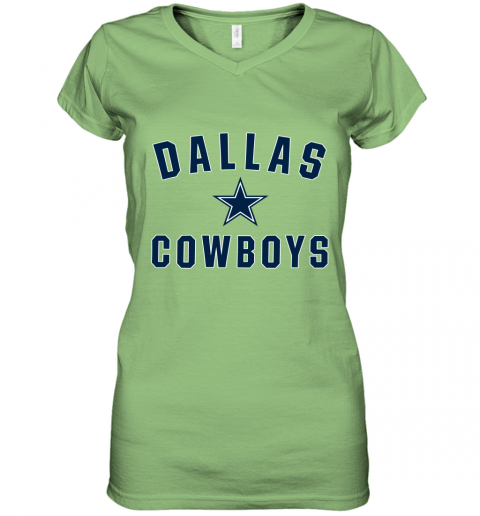 Dallas Cowboys NFL Pro Line by Fanatics Branded Gray Women's V-Neck T-Shirt