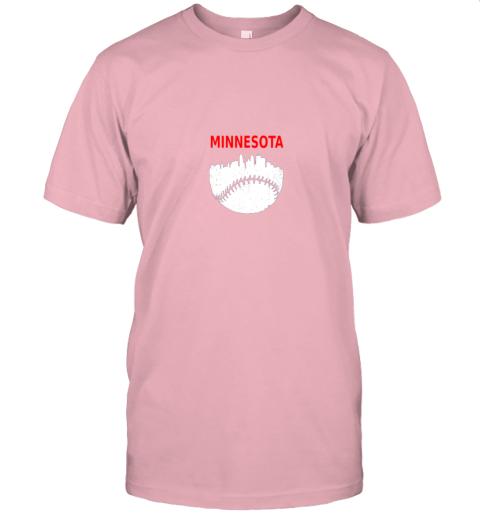 srgr retro minnesota baseball minneapolis cityscape vintage shirt jersey t shirt 60 front pink