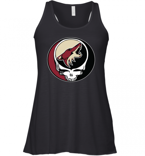 Arizona Coyotes Grateful Dead Steal Your Face Hockey Nhl Shirts Women Tank Top