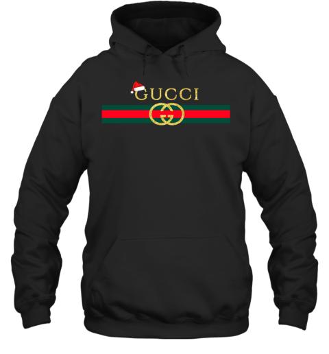 Gucci Glitter Logo Vintage Inspired Santa Hat Merry Christmas Gift Adult Hoodie Sweatshirt