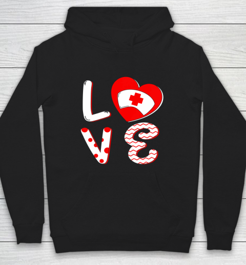 Medical Nurse Valentine Day Shirt Love Matching Hoodie