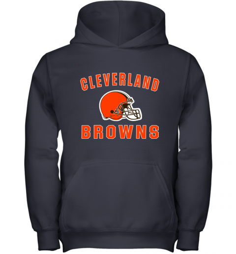 r6zh cleveland browns nfl line by fanatics branded brown victory youth hoodie 43 front navy