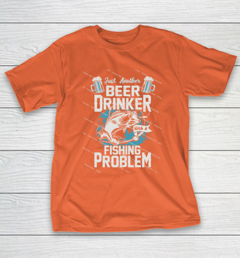 Beer Lover Funny Shirt Fishing ANd Beer T-Shirt 4