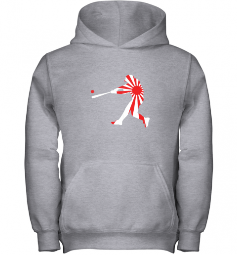 4xnq japan baseball shirt jpn batter classic nippon flag jersey youth hoodie 43 front sport grey