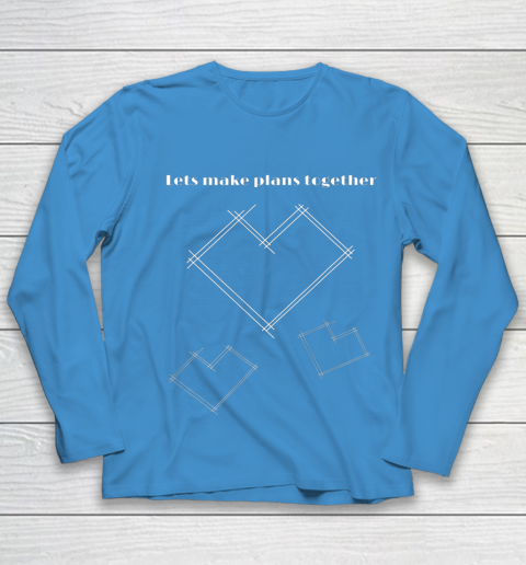 Valentine Architect T Shirt Heart Architecture Student Youth Long Sleeve 5
