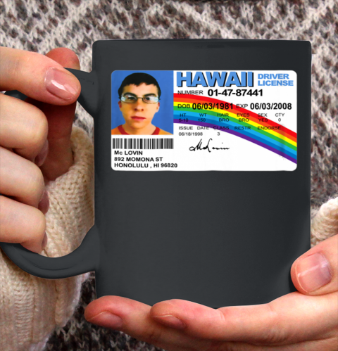 McLovin T Shirt Card Hawaii Ceramic Mug 11oz