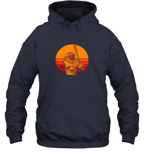 nqnz vintage baseball shirt retro catcher pitcher batter boys hoodie 23 front navy