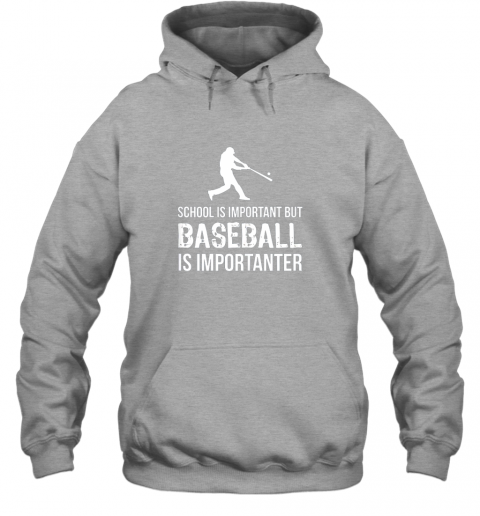 wmpu school is important but baseball is importanter gift hoodie 23 front sport grey