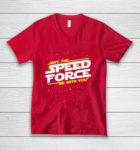 Star Wars Shirt May The Speed Force Be With You V-Neck T-Shirt 6