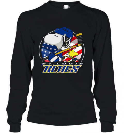 St Louis Blues   Snoopy And Woodstock NHL Youth Long Sleeve