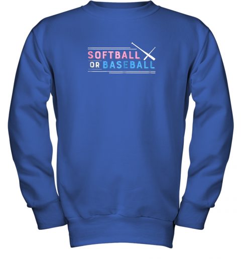 jlj7 softball or baseball shirt sports gender reveal youth sweatshirt 47 front royal