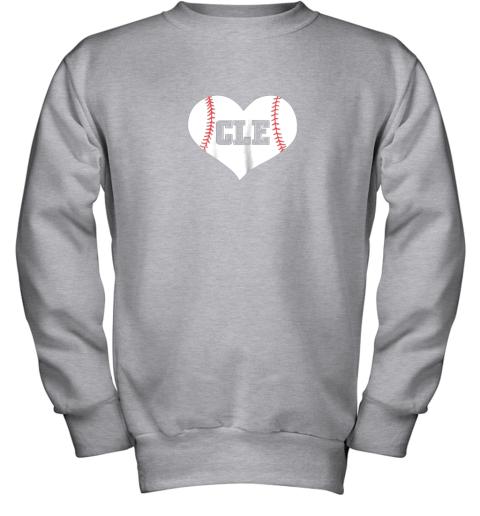 9iz4 cleveland ohio baseball love heart cle gift jersey fan youth sweatshirt 47 front sport grey