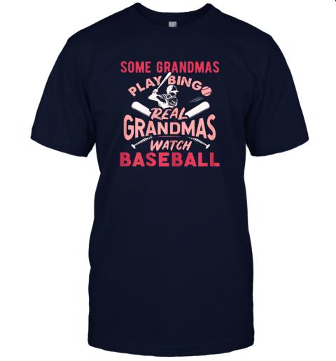 peoz some grandmas play bingo real grandmas watch baseball gift jersey t shirt 60 front navy