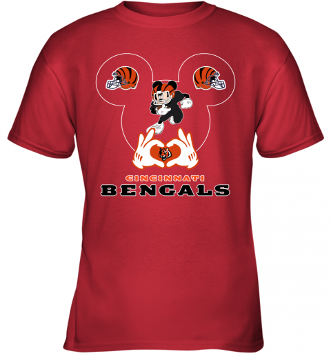 huqs i love the bengals mickey mouse cincinnati bengals youth t shirt 26 front red